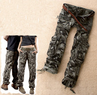 Army Green Denim Camouflage Pants Loose Jeans Baggy Cargo Pants For Women Girls Plus Size Army