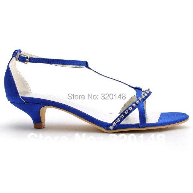 Aliexpress.com : Buy Summer Sandals Blue Open Toe Rhinestone T ...