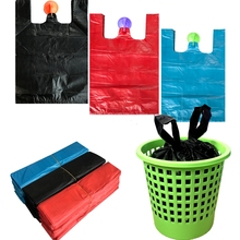 Garbage bag home office thickening vest-type plastic small and large portable garbage Environmental sanitation