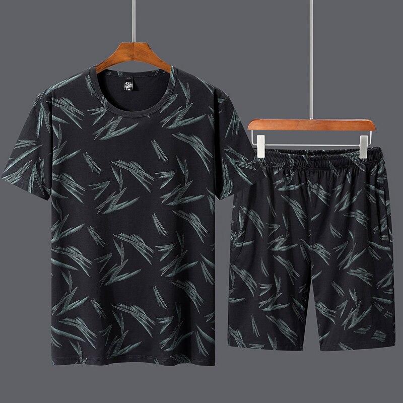 Plus 5XL 6XL 7XL 8XL 9XL 10XL été nouveau hommes Shorts costumes décontractés Sportswear hommes hommes hommes ensemble à manches courtes t-shirts