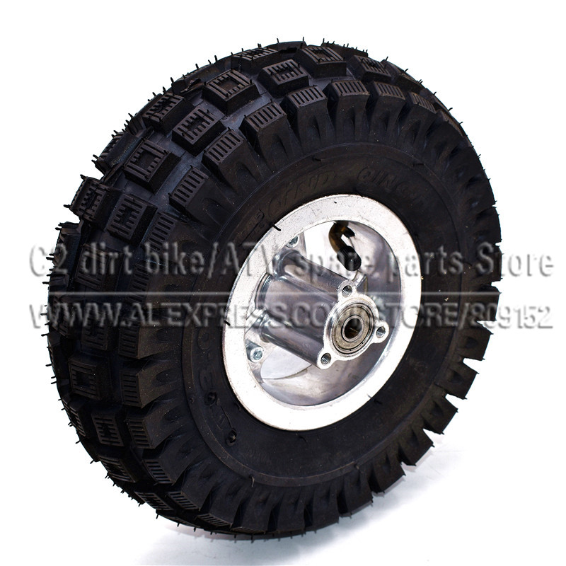 <font><b>3.00</b></font>-<font><b>4</b></font> Electric Scooter Rear Wheel with tyre Alloy Rim hub and inner <font><b>tube</b></font> wheels Gas scooter bike motorcycle image