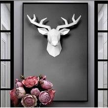 3d Полимерная голова оленя скульптура настенная фотография для