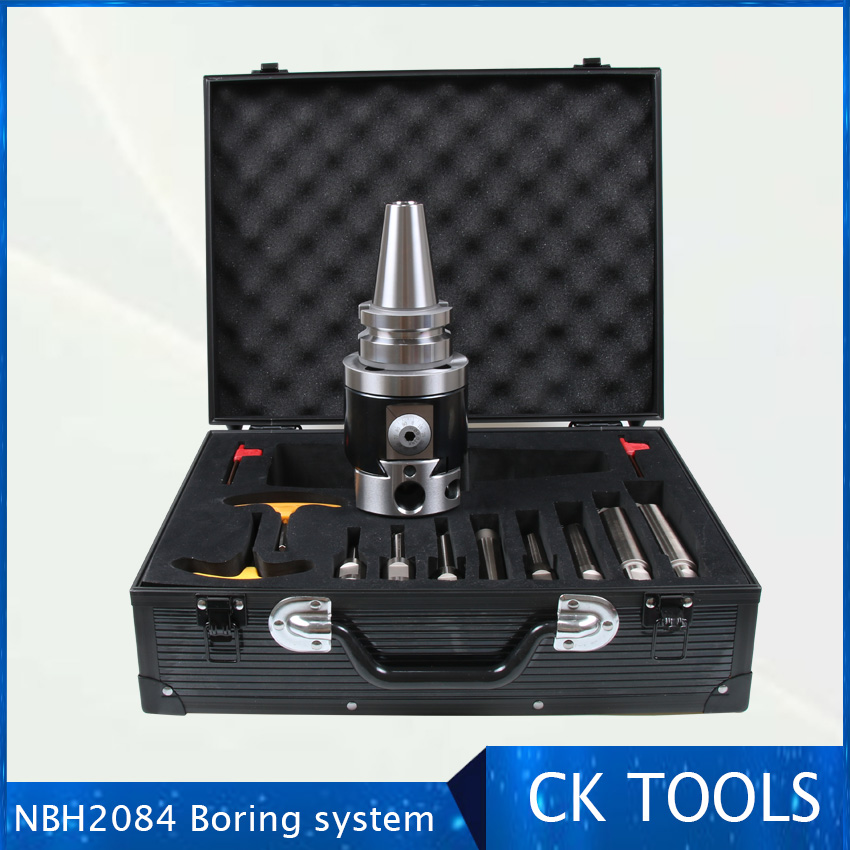 quality Precision SK40 NBH2084 8 280mm Boring Head System Holder 8pcs 20mm Boring Bar Boring rang