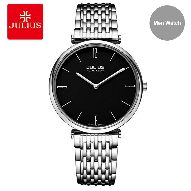 Здесь продается  Julius 2018 Men Watches Wristwatch Stainless Steel Quartz High Quality Luxury Waterproof Dress Watch Clock Relogios Feminino  Часы