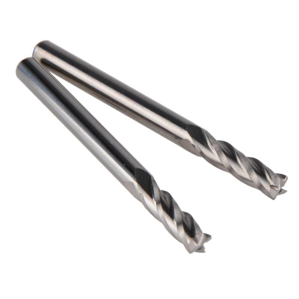 10 Uds. De carburo de PVC acrílico CNC 4 brocas espirales fresa cortador 3.175x12mm