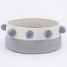 Cat Cotton Weaving Bed Pet Dog Soft Round Shape House Foldable Easy to Clean Wash Comfortable And Safe Lasting