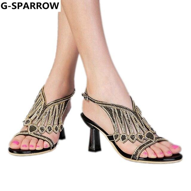 b747d95fe Женские босоножки, 2018 новые стильные свадебные и вечерние туфли высокого  качества, модные сандалии со