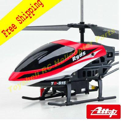 Attop juguetes YD-615 medio inalámbrico 3.5CH RC helicóptero con Gyro RTF fuertemente rey envío gratis