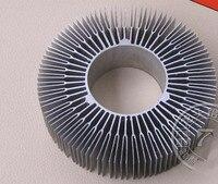 2 unids/lote Dia 115*50*30mm radiador de girasol led lámpara de aluminio disipador de calor con agujero denso diente decorativo iluminación disipador de calor