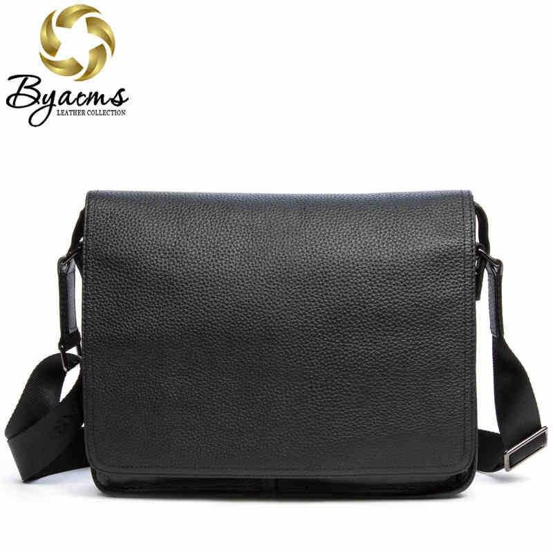 100 Guarantee Genuine Leather Bag High quality Natural Cowskin Men Messenger Bags Vintage Shoulder Crossbody Bag