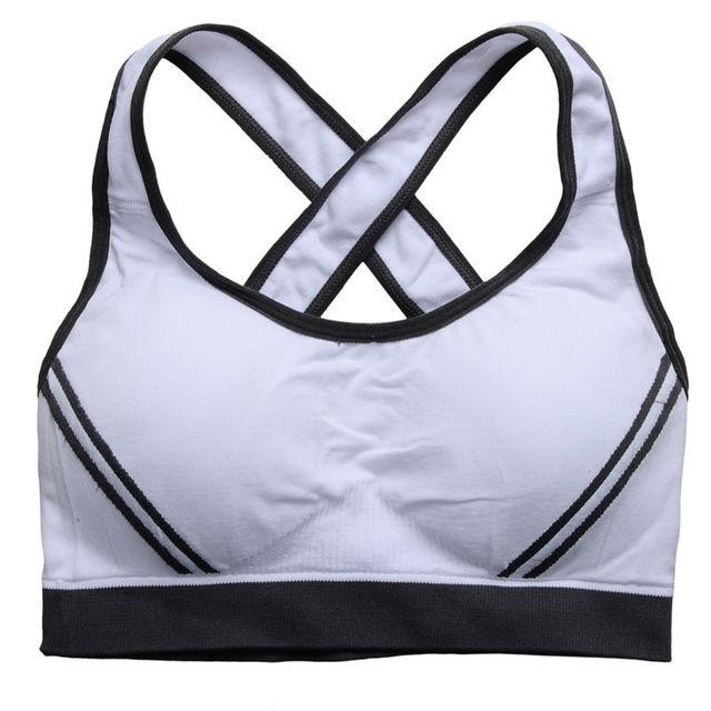 Sexy Woman Sportswear Fitness Running Clothes Women Jogging Yoga Racerback Sports Bra Padded Underwear Tennis Vest Crop Top Bras