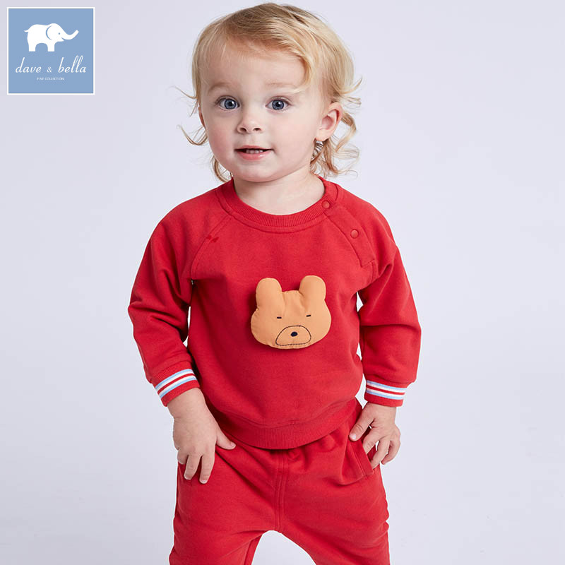 DBA6356 dave bella spring baby boys red clothing sets toddler children suit high quality toddler outfits Clothing Suits db7386 dave bella spring baby boys clothing sets panda print toddler children suit high quality infant outfits