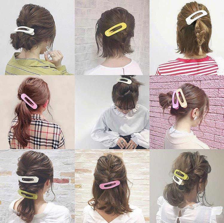 Accessoire cheveux pour femme de haute qualité solide grandes pinces à cheveux japon Transparent coloré épingles à cheveux Barrettes pour filles accessoires de cheveux