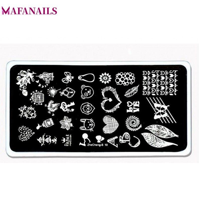 1 Pcs Nette Muster Nail Art Bild Stempel Platten Vogel Käfig Herz Blatt Schmetterling Nägel Vorlagen Diy Platte Werkzeuge Zhecheng10 Zu Verkaufen