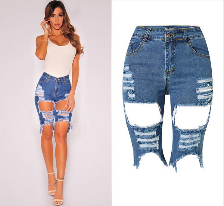 knee jean shorts hardon clothes