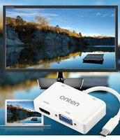 USB 3.1 Typ C do HDMI VGA 3.5mm Adapter Audio Video Converter dla Macbook Samsung Galaxy S8 Plus Uwaga 8 LG G5 do TV projektor