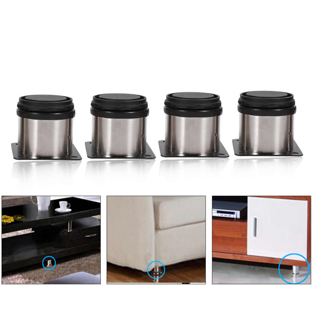 4pcs Stainless Steel Cabinet Feet Adjustable Support Furniture Legs Kitchen  Cabinets