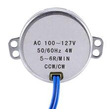 цена на Wholesale 10Pcs/ Lot Turntable Synchronous Synchron Motor 50/60Hz AC 100~127V 4W 5-6RPM/MIN CCW/CW