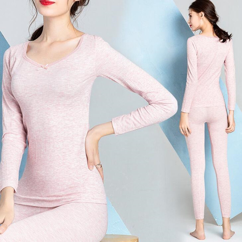 Thermal Underwear Women Thermo Underwear Set For Ladies Cotton Winter Autumn Spring Female Sexy Long Johns Clothes Fashion 2018