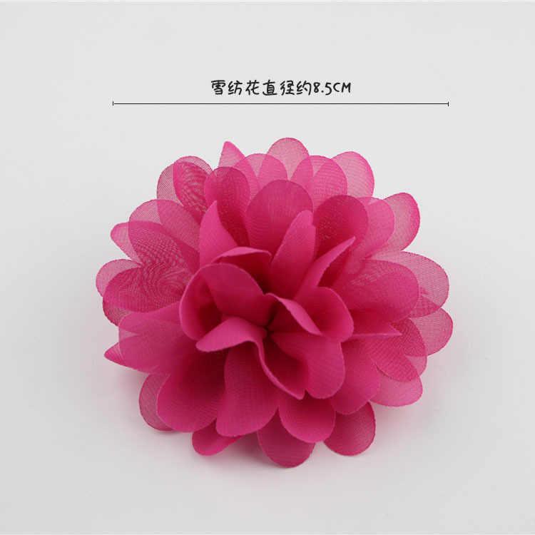 10 ใหม่สี Candy เด็กสาวผมอุปกรณ์เสริมดอกไม้ขนาดเล็กน่ารักเด็ก Headband ไม่มีคลิป Props สีชมพู