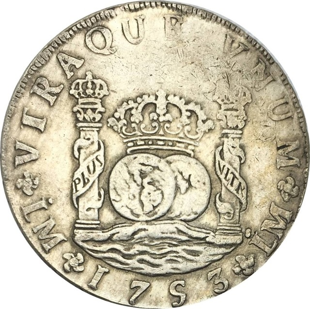 Peru 8 Reales Fernando Vi 1753 Lm J Cuickel Plated Silver Copy Coins High Quality