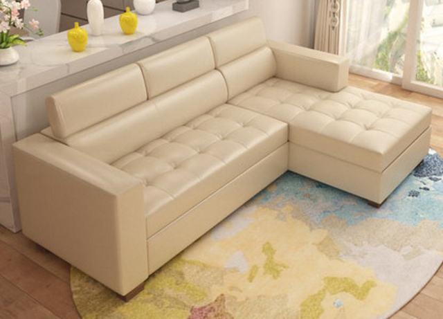 Leather Sofa Bed w/ Storage 5
