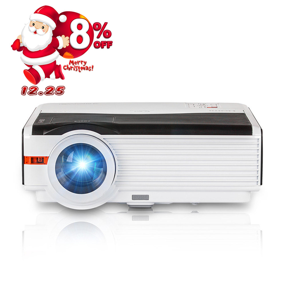 Caiwei Digital Led Projector Home Theater Beamer Lcd: CAIWEI 5000Lumens Native LCD LED Projector Video Home