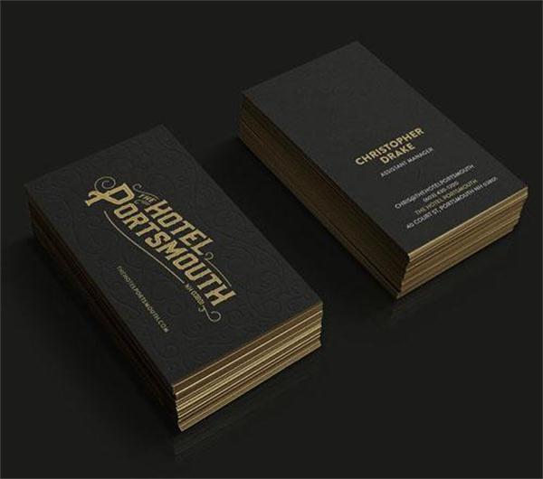 Black gold foil business card customized edge gilding debossing black gold foil business card customized edge gilding debossing print visiting card design 600gsm cardboard a4 colourmoves