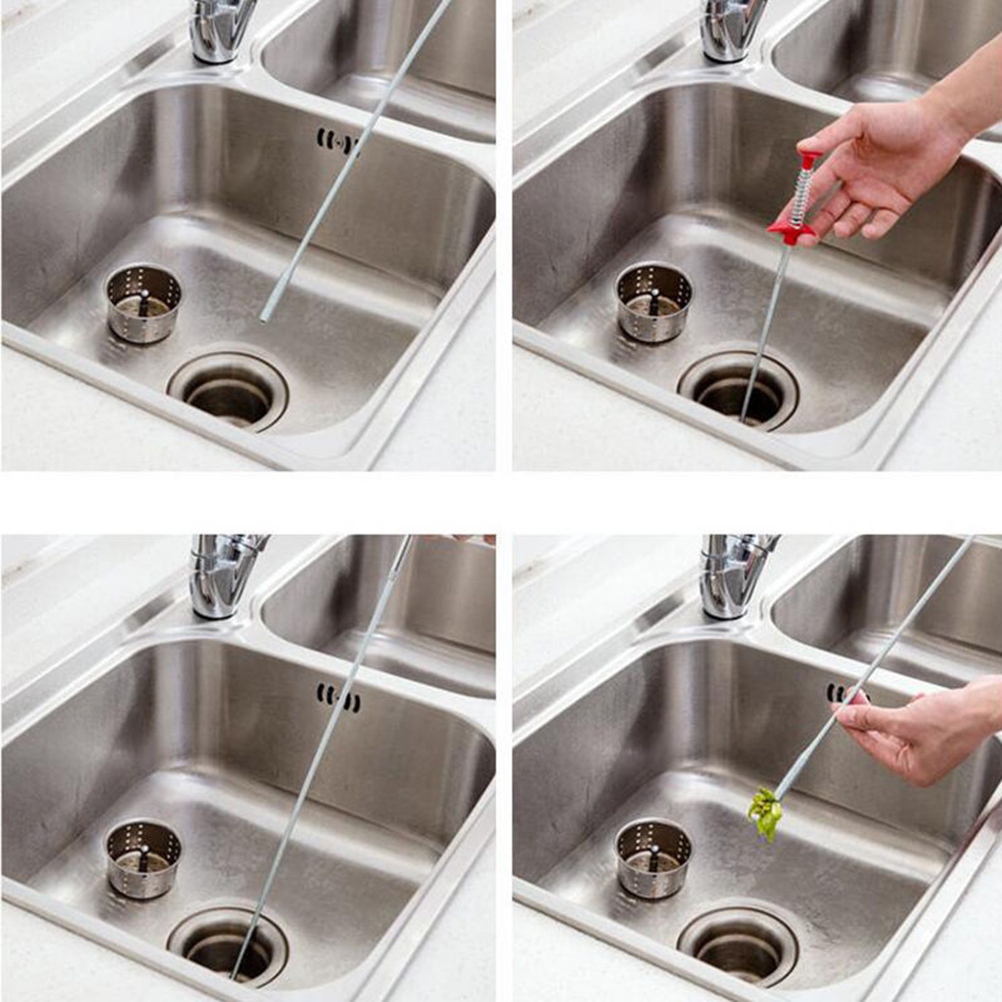 Home Bathroom Sink Drain Filter Cleaner Sewer Dredge Device House Cleaning Tool 1pcs