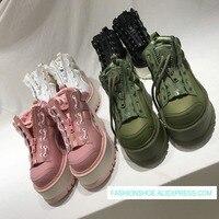 Лидер продаж женские осенние и зимние сапоги на плоской платформе кроссовки на шнуровке дизайн женщина обувь для спорта и отдыха Шик Панк ж