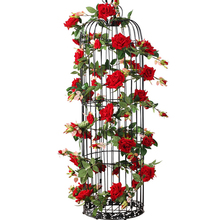 180CM 1pc Silk Roses Ivy Vine with Green Leaves For Home Wedding Decoration Fake leaf diy Hanging Garland Artificial Flowers
