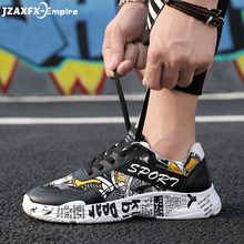 цены 2019 Men's Casual Shoes Lace-up Fashion printed canvas shoes Spring Autumn Flat Shoes Male Sneakers tenis masculino adulto