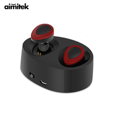 Sale Aimitek K2 True Wireless Bluetooth Earphones TWS Earbuds Mini Stereo Headset Handsfree With Mic Charging Bank Retail Package Box
