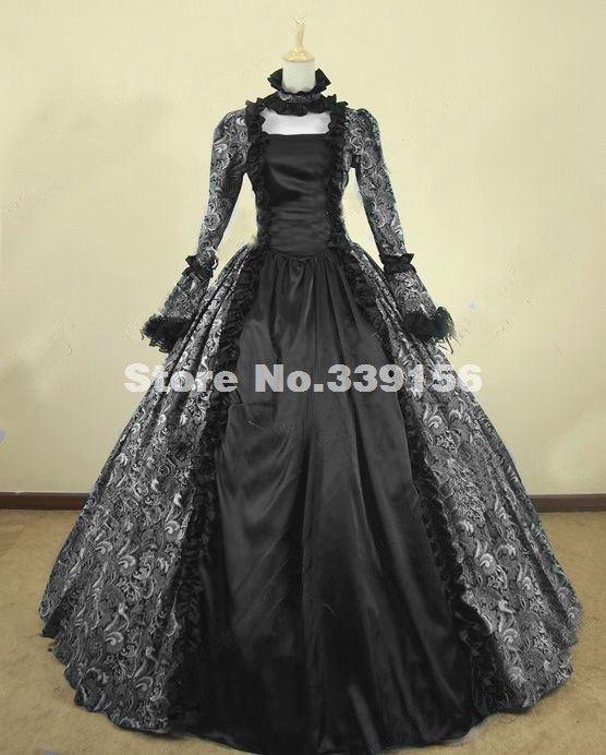 Festival Victorian Renaissance Gothic Party Dress Ball Gown Theatrical Reenactment Costume