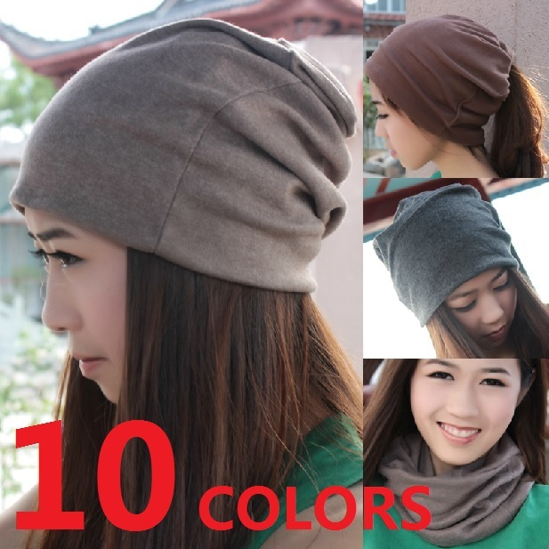 Women Girl Lady Hat Knit Beanie Cap Open Top Opened Skullies Lining  Headgear Winter Autumn Spring d9f4889b3d6
