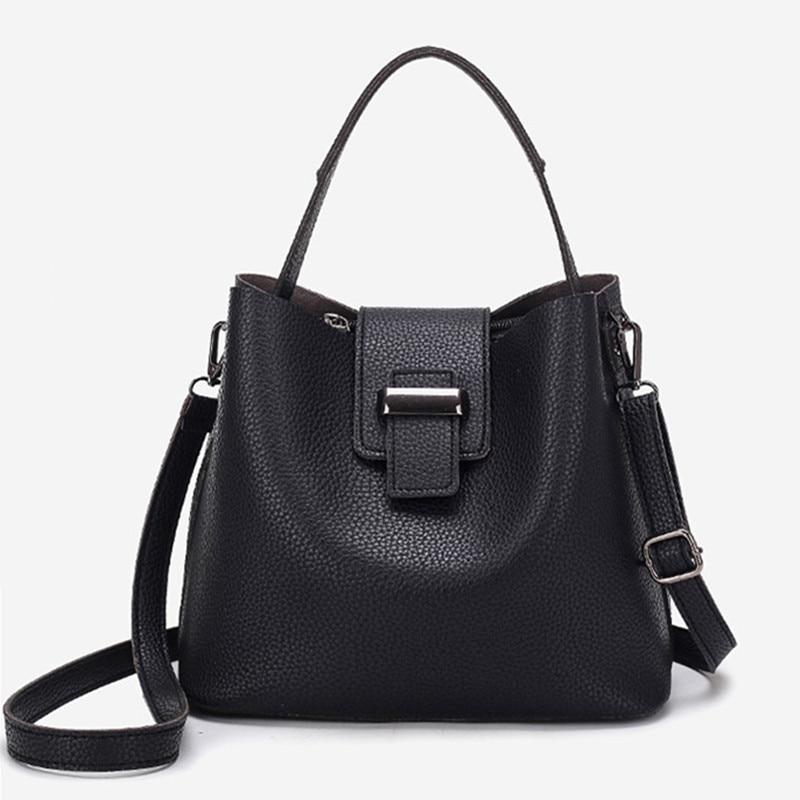 ФОТО 2017 Fashion pu Leather Handbags Women Tote Shoulder Bag Bucket Women Bag Luxury Designers Famous Brand Ladies Messenger Bag Sac