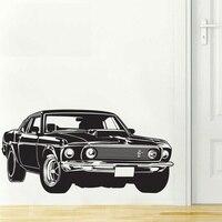 Shelby GT פורד מוסטנג שרירים מרוצי מכוניות מדבקות קיר לאמנות בית תפאורה הקיר ויניל מדבקה 2 גדלים