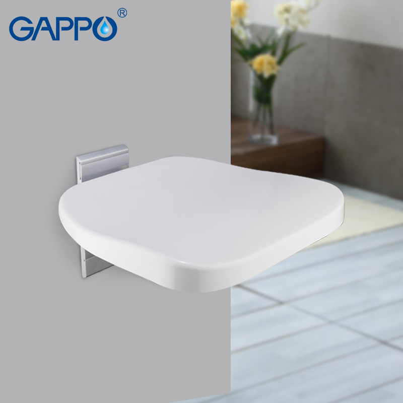Bathroom Fixtures Bathroom Safety & Accessories Gappo Wall Mounted Shower Seats Alumimum Alloy Disabled Elderly Bath Shower Seat Bathroom Chair Seat Stool Bench Year-End Bargain Sale