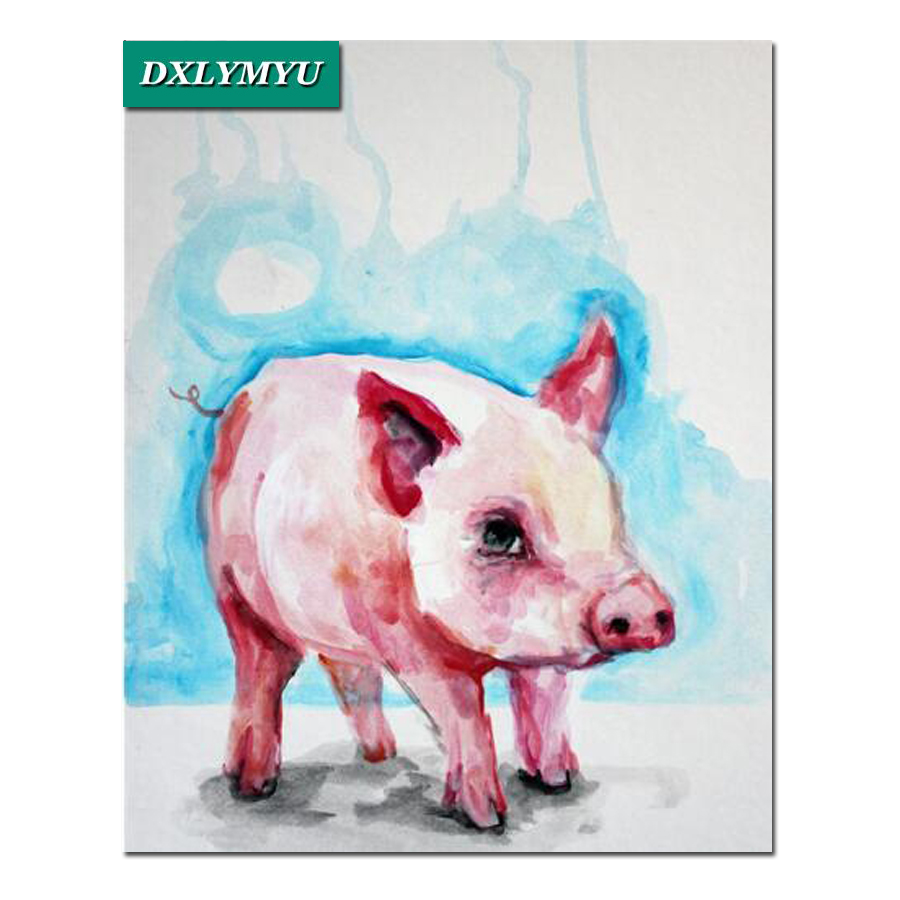 5D diy diamond painting cartoon pink pig cross stitch kits 3d picture picture full square diamond embroidery mosaic handicrafts