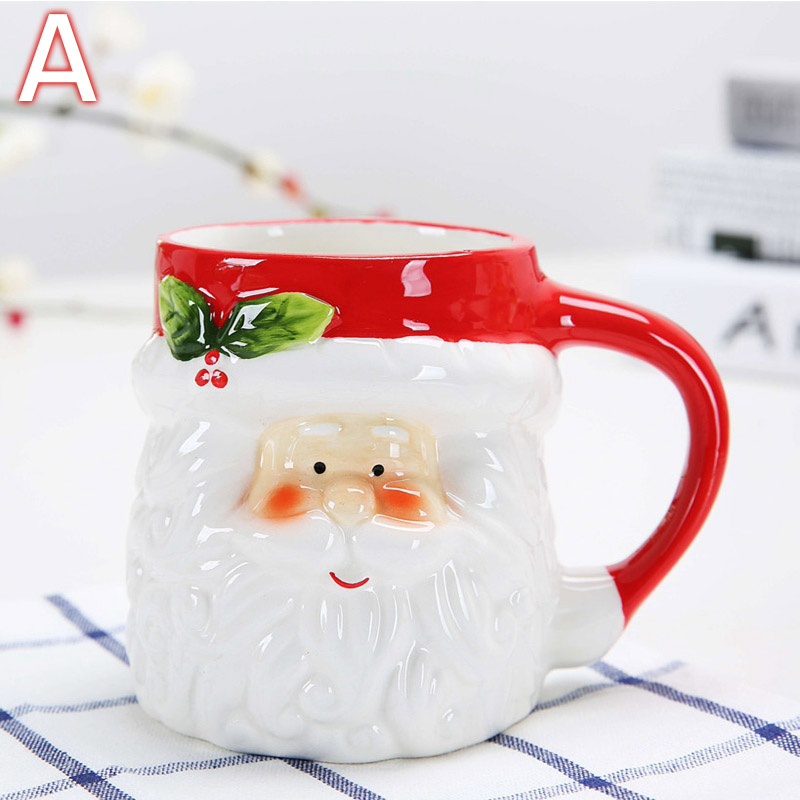Penguin Book Cover Coffee Mugs : Christmas cartoon pattern ceramics mug cup santa claus