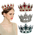 royal crown gold/silver rhinestone tiara head jewelry quinceanera royal queen crown bride wedding mariage hair accessories