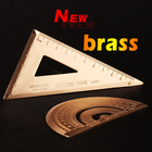 Brass triangular rul...