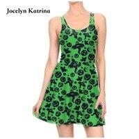 Jocelyn Katrina 3D Sexy Women Tennis Sports Pleated Dress Vogue Slim Elastic Girls Animal Skater Dresses