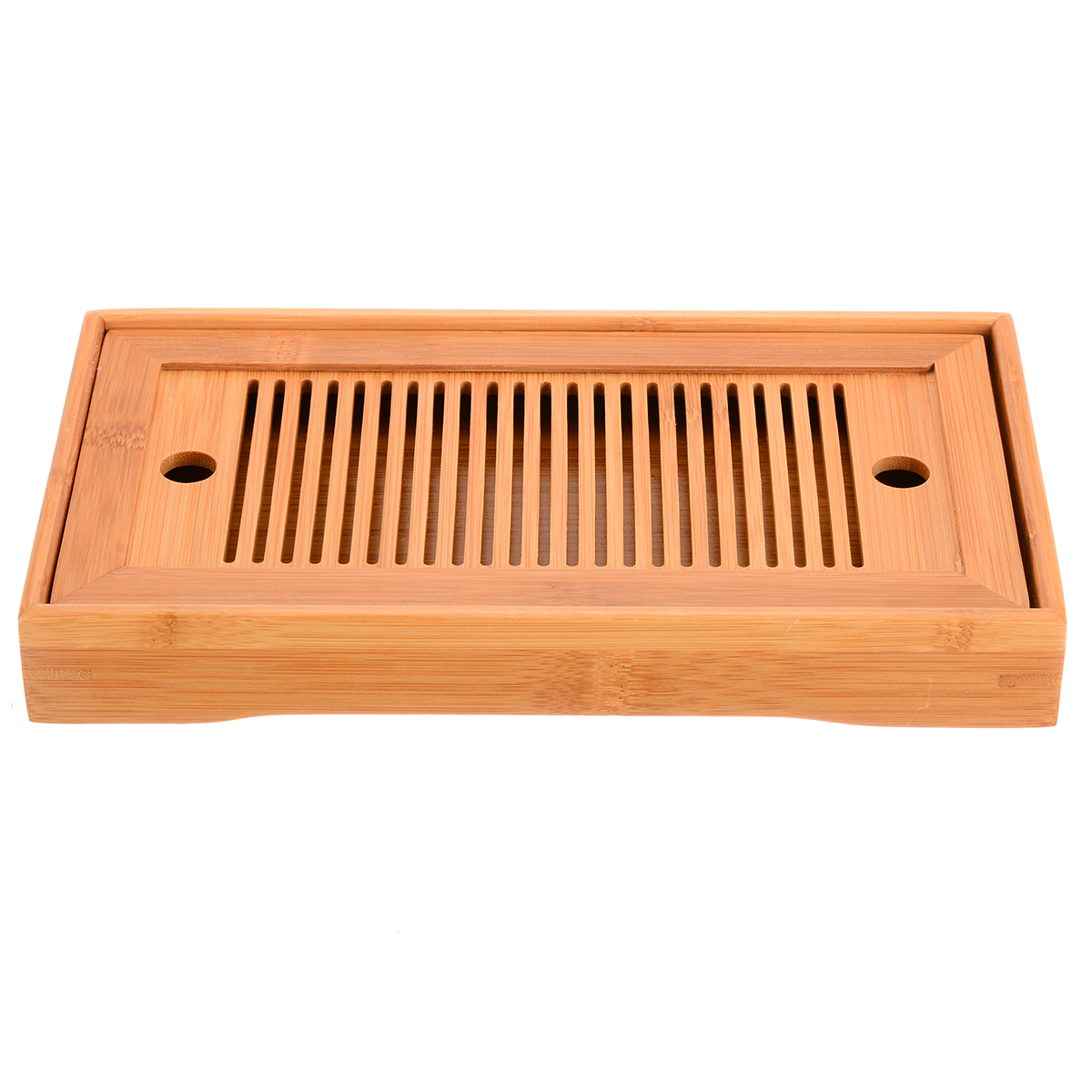 25*14*3.5cm Rectangle Chinese Gongfu Tea High Quality Bamboo Tea Tray Serving Food Coffee Tea Cutlery Tray