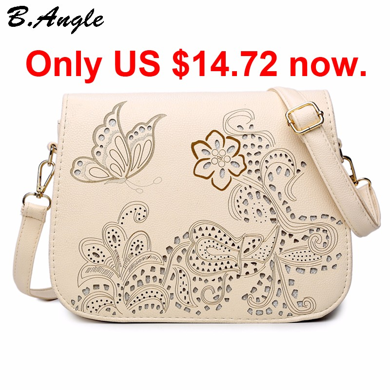 High-quality-flowers-and-butterfly-Hollow-Out-messenger-bag-women-bag-cross-body-bag-school-bag