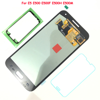 FIX2SAILING 100% Tested Working AMOLED LCD Display Touch Screen Assembly For Samsung Galaxy E5 E500 E500F E500H E500M