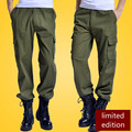 DOMAN Men's Outdoor Trousers Wear Slacks Tactical Overalls Pockets Multi Welders Clothes Army Green Military Combat Cargo Pants