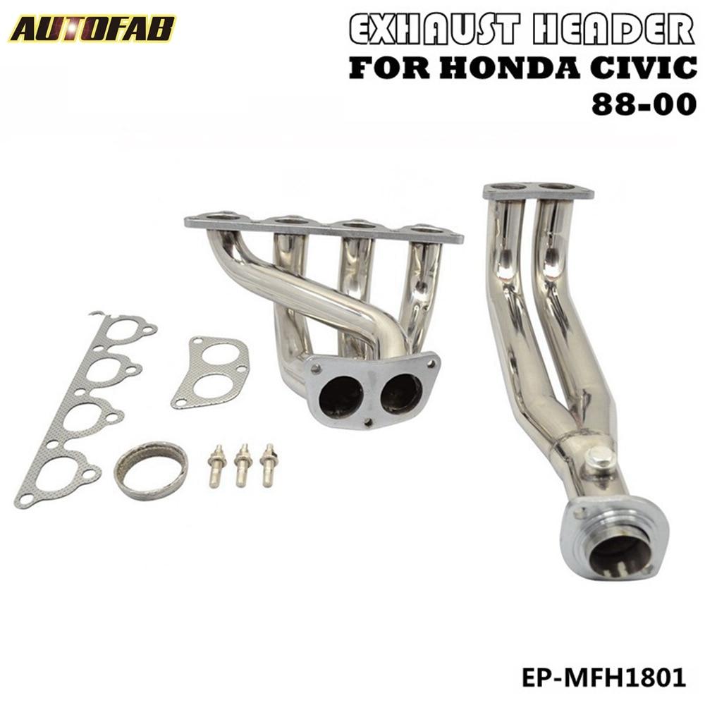 Exhaust manifold header Honda Civic CRX  Del Sol D15 D16