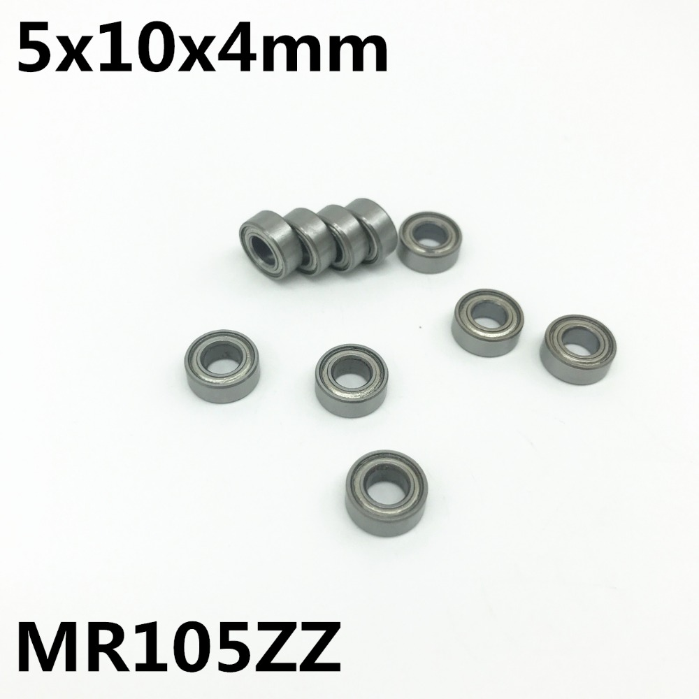 50PCS MR105ZZ 5x10x4 mm Deep groove ball bearing Miniature bearing High quality MR105Z MR105 boss mr105