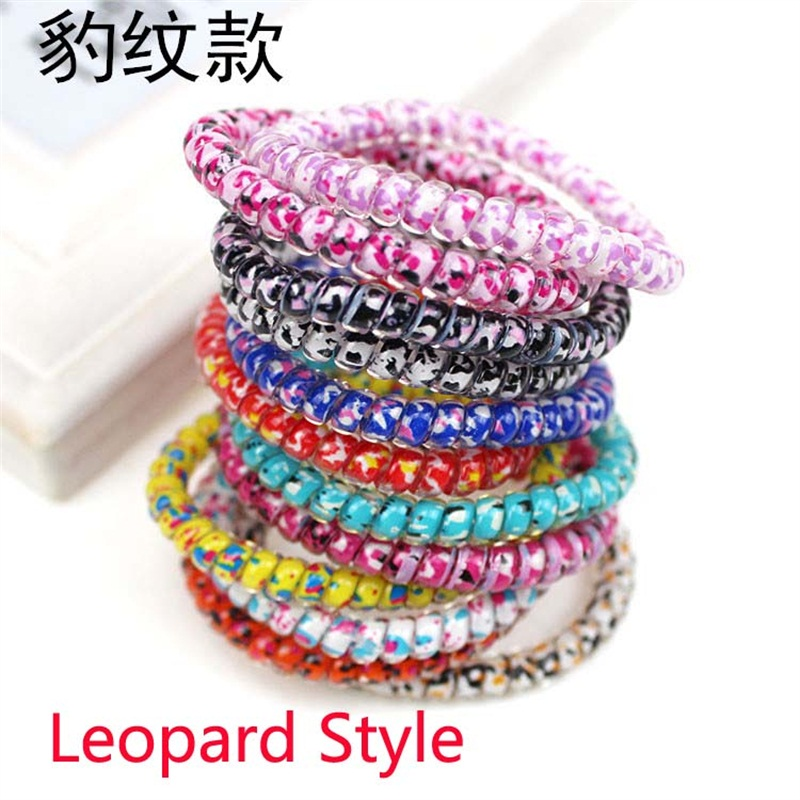 Leopard telephone line Hair Accessories For Women Headband,Elastic Bands For Hair For Girls,Hair Band Hair Ornaments For Kids
